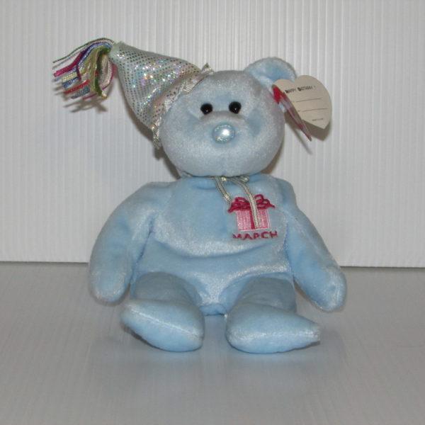 338f61ba359 Ty Beanie Baby-Happy Birthday March With Hat – Baskets